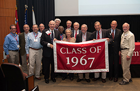 The Class of 1967 had the highest attendance at Reunion