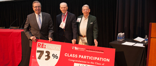 The Class of 1956 had a participation rate of 73% in their class gift