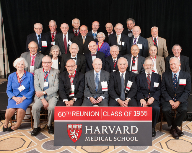 Members of the Class of 1955 during the 2015 Reunion Gala at the Four Seasons