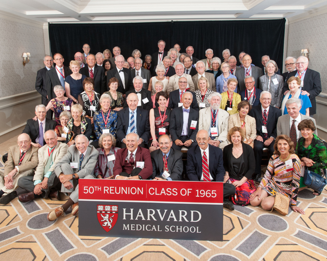 Members of the Class of 1965 during the 2015 Reunion Gala at the Four Seasons