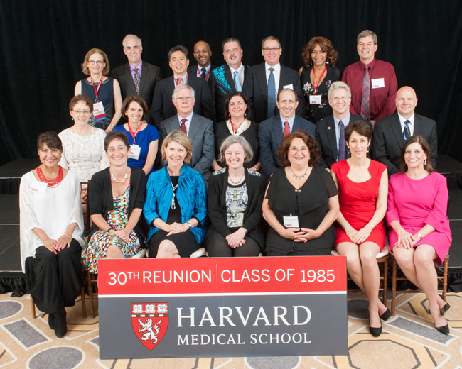 Members of the Class of 1985 during the 2015 Reunion Gala at the Four Seasons