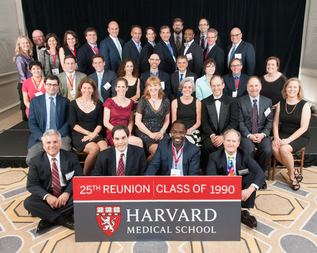 Members of the Class of 1990 during the 2015 Reunion Gala at the Four Seasons