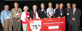 The Class of 1966 had a participation rate of 75% in their class gift