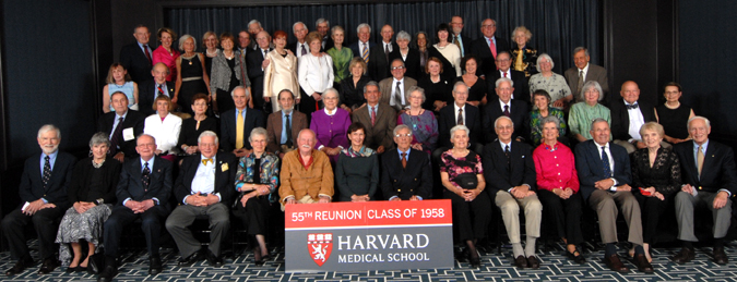 Members of the Class of 1958 at the Reunion Gala, celebrating their 55th Reunion