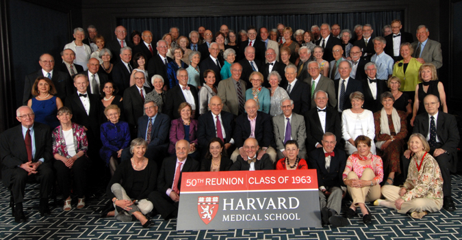 Members of the Class of 1963 at the Reunion Gala, celebrating their 50th Reunion