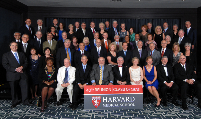 Members of the Class of 1973 at the Reunion Gala, celebrating their 40th Reunion