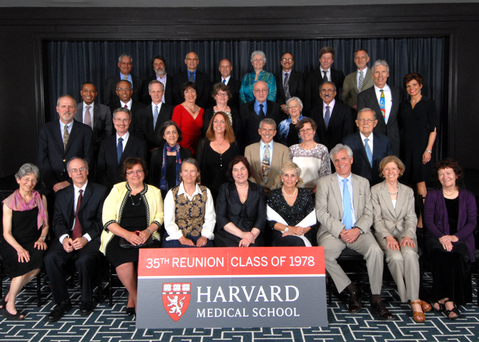 Members of the Class of 1978 at the Reunion Gala, celebrating their 35th Reunion