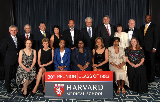 Members of the Class of 1983 at the Reunion Gala, celebrating their 30th Reunion
