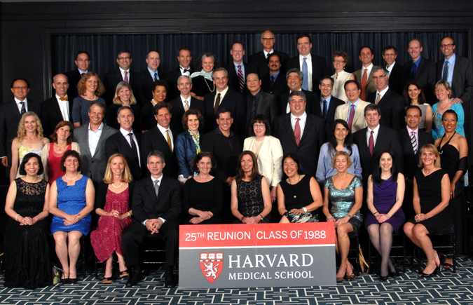 Members of the Class of 1988 at the Reunion Gala, celebrating their 25th Reunion