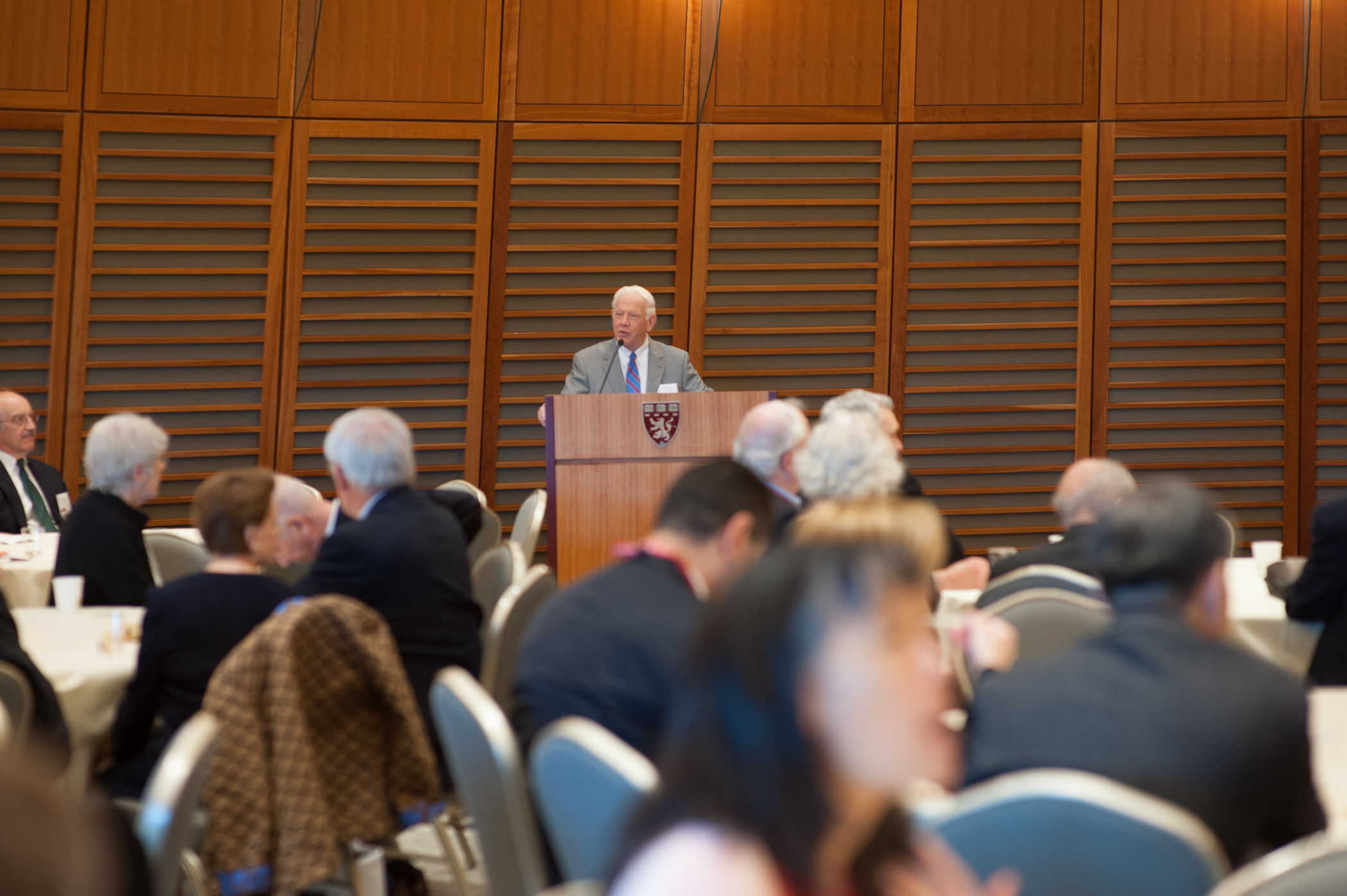 Chair of Alumni Relations, A.W. Karchmer, MD '64, expresses his gratitude to Reunion Committee members