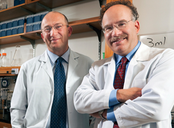 Mehmet Toner (left) and Daniel Haber, colleagues in the development of a new system for isolating rare circulating tumor cells. Image: National Institutes of Health.