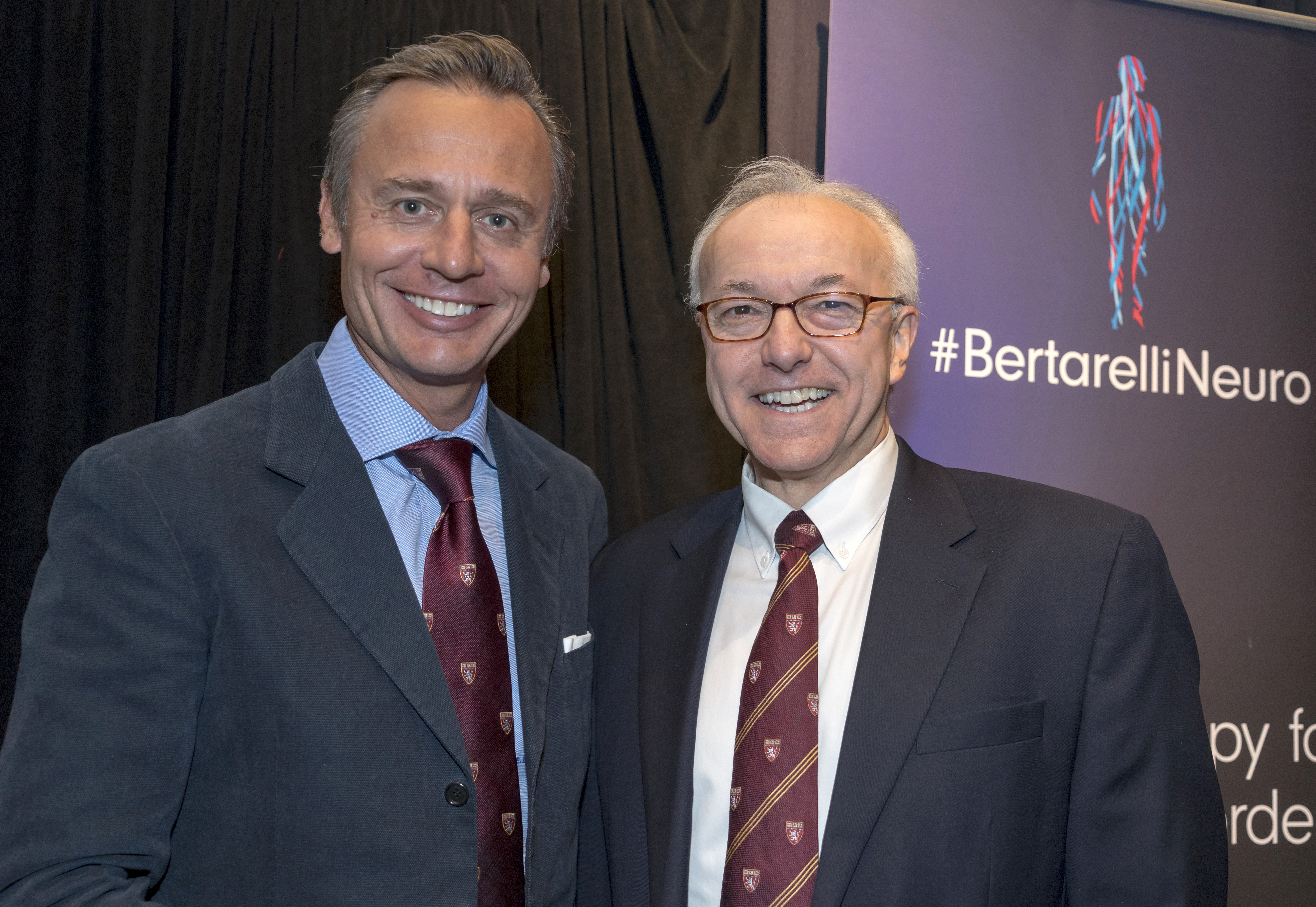Ernesto Bertarelli, co-chair of the Bertarelli Foundation, and HMS Dean George Daley