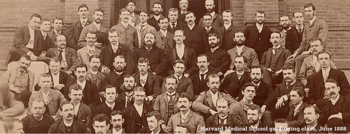 Harvard Medical School graduating class, June 1888