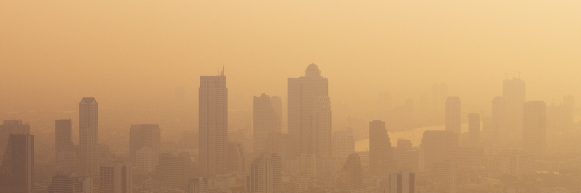 photo of an urban area choked with smog