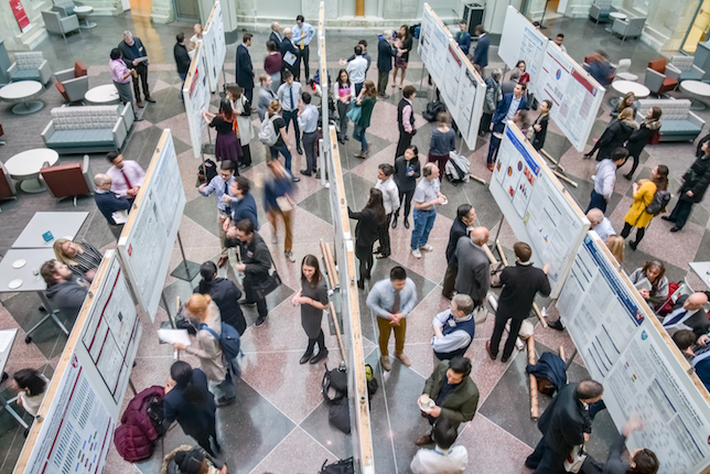 Soma Weiss Research Day posters in TMEC atrium