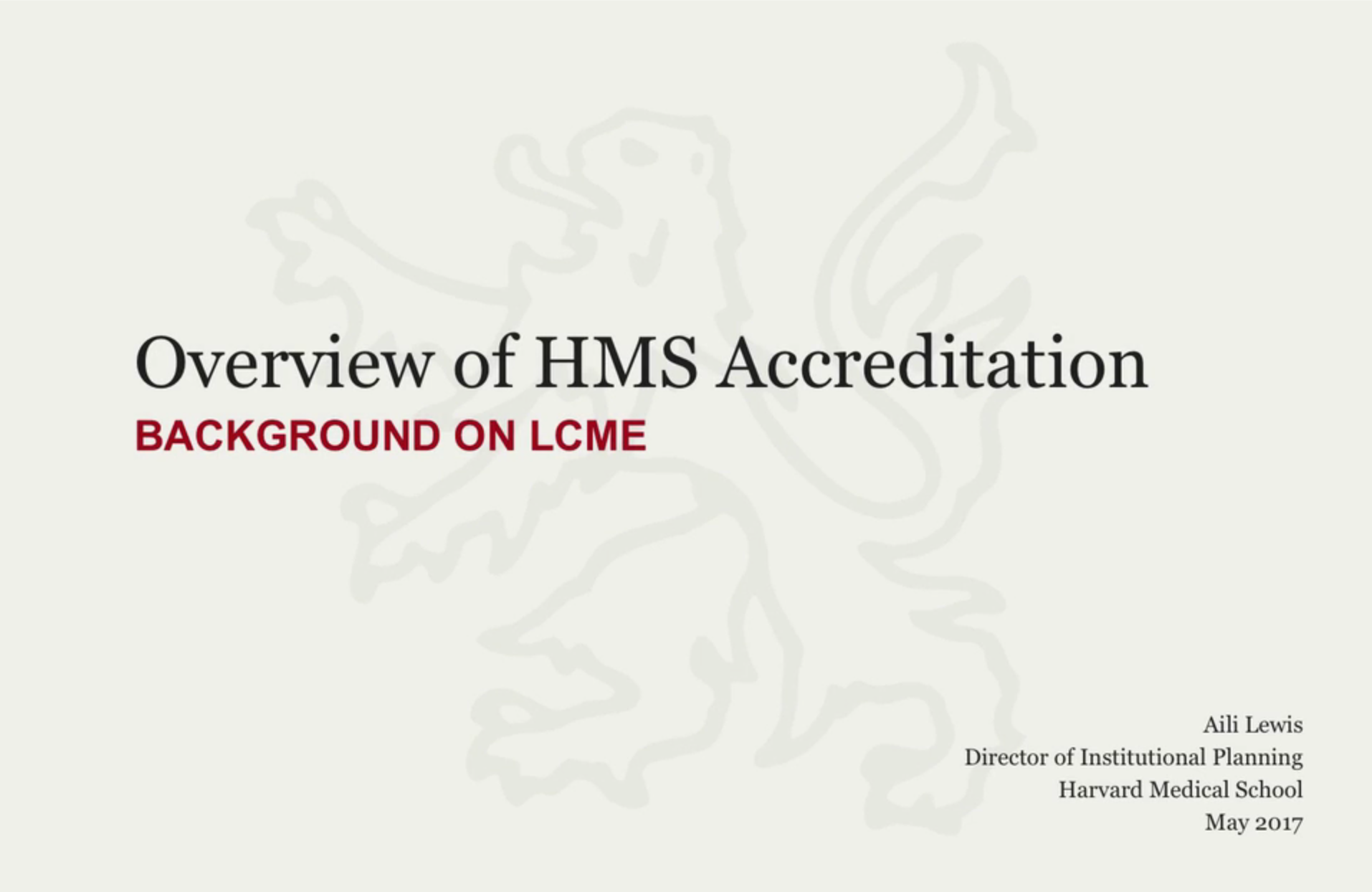 LCME accredidation video