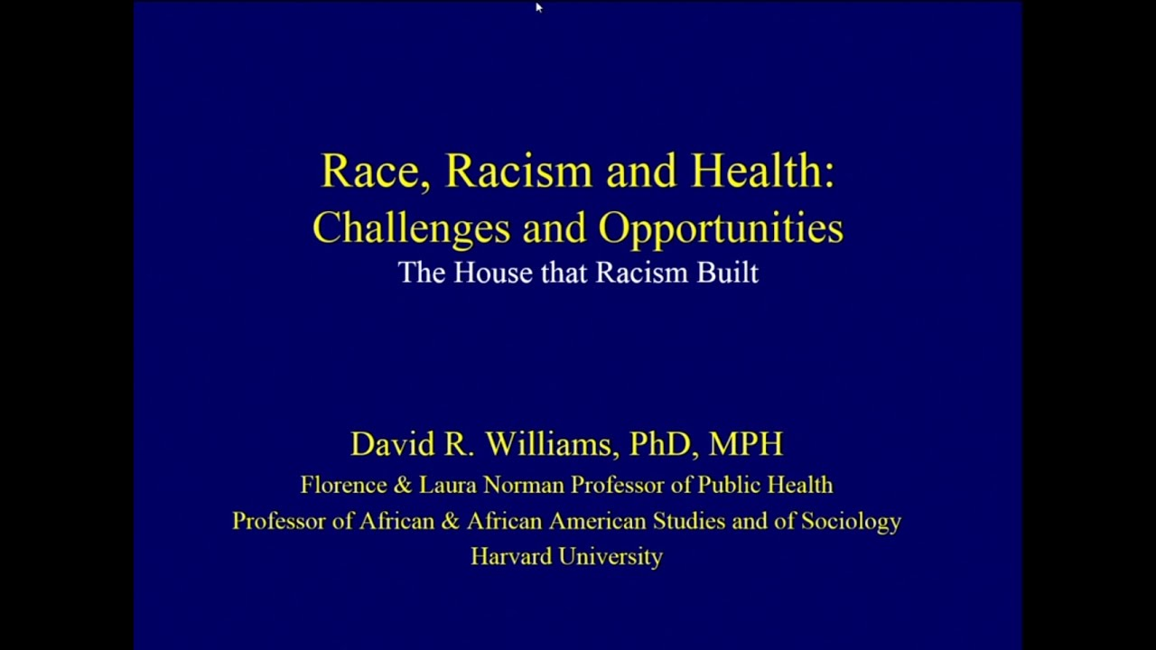 "Harvard Longwood Campus 2016 Diversity Dialogues, ""Race, Racism and Health: Challenges and Opportunities"" with David Williams. Video: HMS DICP"