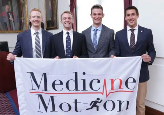 Medicine in Motion founders Mike Seward, Derek Soled, Chase Marso and Logan Briggs