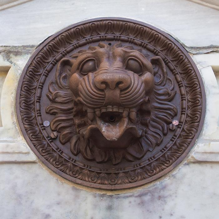 bronze lion head