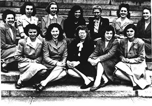 ​​First class of women admitted to Harvard Medical School, 1945